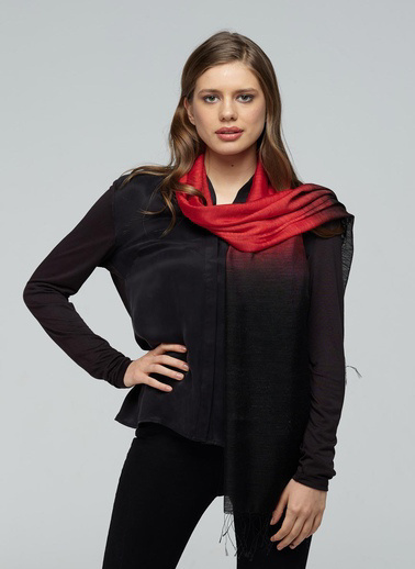 Silk and Cashmere Fular Siyah